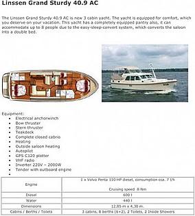 Linssen Grand Sturdy 40.9 AC (code:TOR 17) - Zadar - Charter boten Kroatië