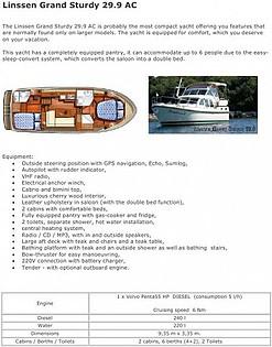 Linssen Grand Sturdy 29,9 AC (code:TOR 19) - Zadar - Charter navi Croazia