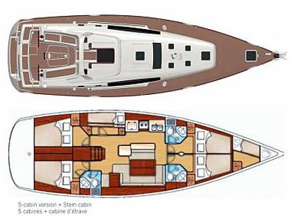 Oceanis 50 Family (CBM Realtime) - Sibenik - Charter ships Croatia