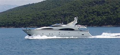 Azimut Jumbo 100 (code: MGM1) - Kastel Gomilica - Charter plovila Hrvaška