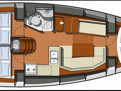 Sun Odyssey 36i (CBM Realtime) - Kastel Gomilica - Charter hajókHorvátország