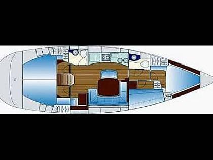 Bavaria 44 (CBM Realtime) - Kastel Gomilica - Czarter statki Chorwacja
