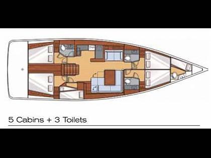 Oceanis 55 (CBM Realtime) - Pula - Charter boten Kroatië