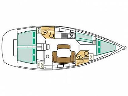 Cyclades 43.4 (CBM Realtime) - Sukosan - Charter hajókHorvátország