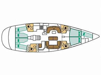 Sun Odyssey 54DS (CBM Realtime) - Biograd - Charter ships Croatia