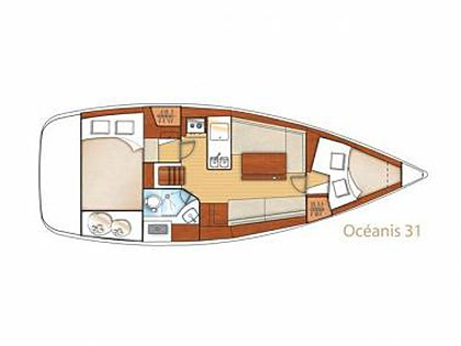 Oceanis 31 (CBM Realtime) - Trogir - Charter ships Croatia