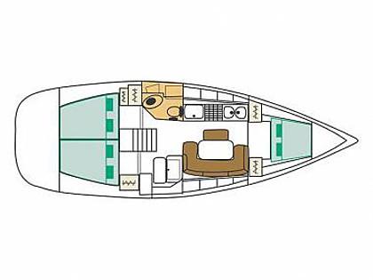 Oceanis 50 (CBM Realtime) - Šibenik - Charter plovila Hrvaška