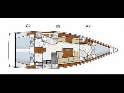 Hanse 415 (CBM Realtime) - Jezera - Charter plavidlá Chorvátsko