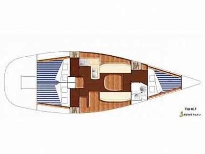 First 40.7 (CBM Realtime) - Primosten - Charter Boote Kroatien