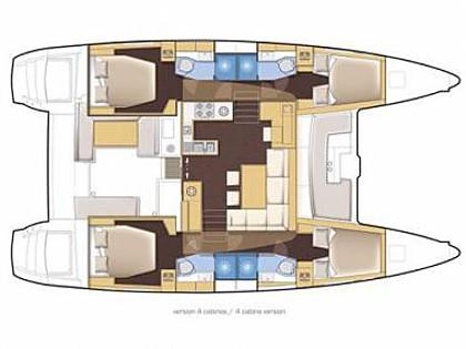 Lagoon 450 (CBM Realtime) - Trogir - Charter Boote Kroatien