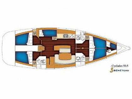 Cyclades 50.5 (CBM Realtime) - Trogir - Charter ships Croatia