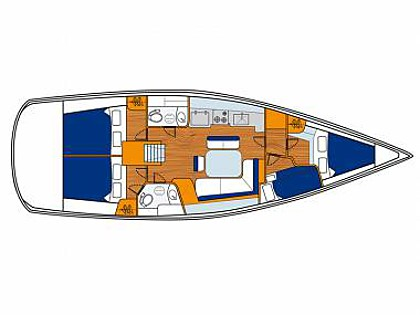 Sun Odyssey 43  (CBM Realtime) - Split - Charter plovila Hrvatska