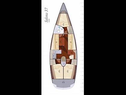 Salona 37 (CBM Realtime) - Primosten - Charter hajókHorvátország