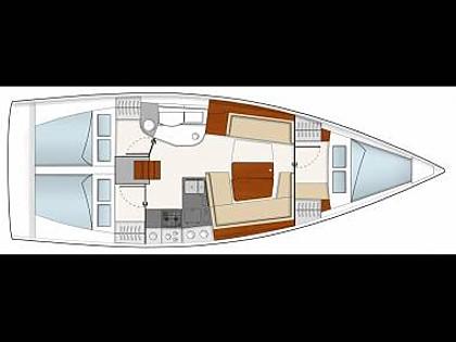 Hanse 385 (CBM Realtime) - Jezera - Charter Boote Kroatien