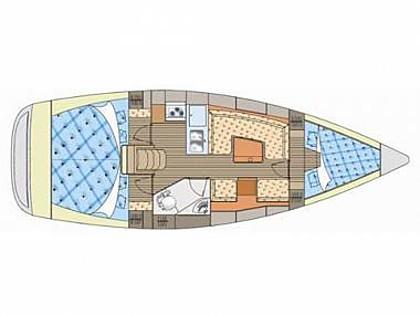 Elan 344 Impression (CBM Realtime) - Betina - Charter plavidlá Chorvátsko