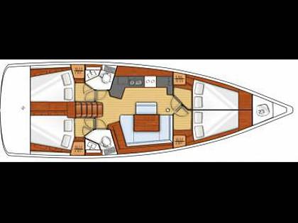 Oceanis 45 (CBM Realtime) - Kastel Gomilica - Charter embarcation Croatie