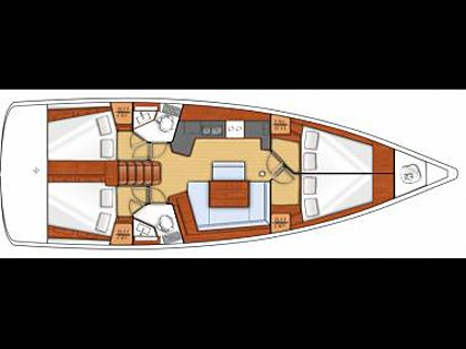 Oceanis 45 (CBM Realtime) - Trogir - Charter plovila Hrvatska