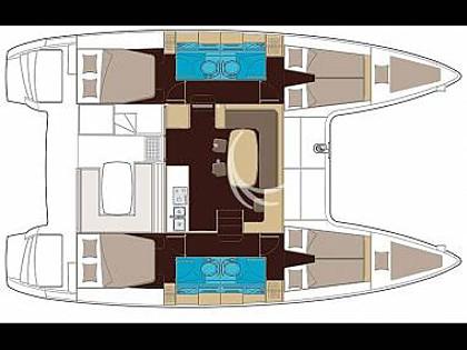 Lagoon 400 (CBM Realtime) - Dubrownik - Czarter statki Chorwacja