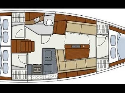 Hanse 345 (CBM Realtime) - Kastel Gomilica - Charter ships Croatia