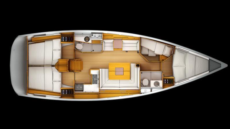 Sun Odyssey 439 (CBM Realtime) - Kastel Gomilica - Charter plovila Hrvaška