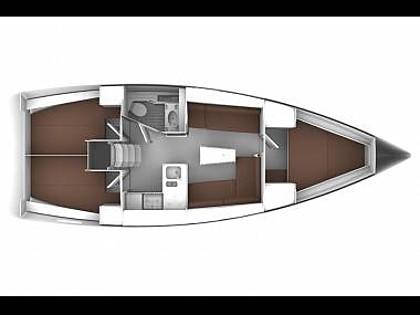 Bavaria Cruiser 37 (CBM Realtime) - Jezera - Charter hajókHorvátország