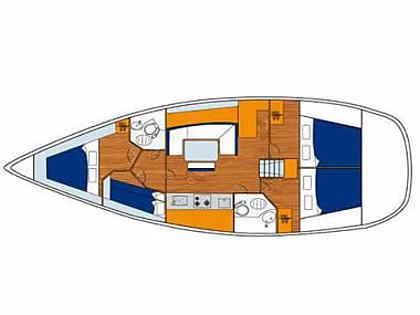 Cyclades 43 (CBM Realtime) - Split - Charter ships Croatia