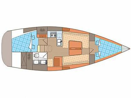 Elan 340 (CBM Realtime) - Biograd - Charter plavidlá Chorvátsko