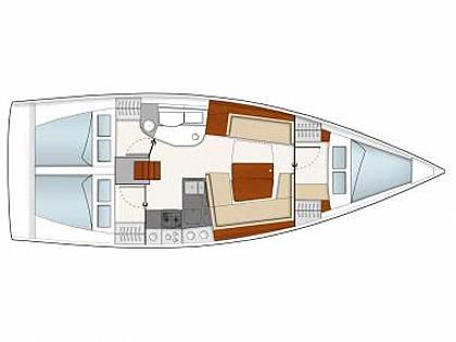 Hanse 385 (CBM Realtime) - Kastel Gomilica - Charter navi Croazia