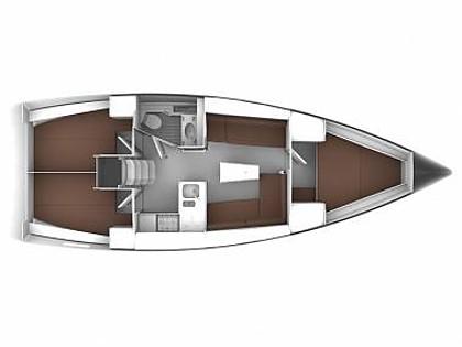 Bavaria Cruiser 37 (CBM Realtime) - Sukošan - Charter plavidlá Chorvátsko