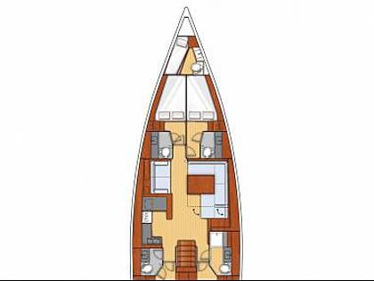 Oceanis 55 (CBM Realtime) - Kastel Gomilica - Charter plavidlá Chorvátsko