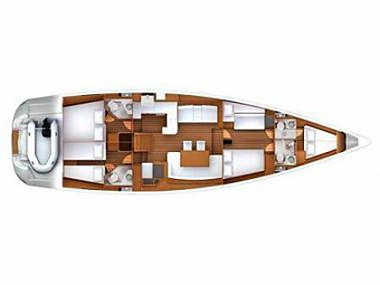 Jeanneau 57 (CBM Realtime) - Seget Donji - Charter embarcation Croatie