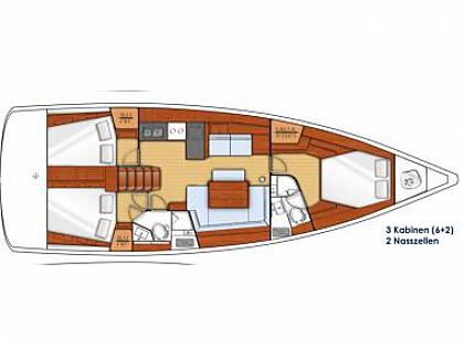 Oceanis 45 (CBM Realtime) - Zadar - Charter Boote Kroatien