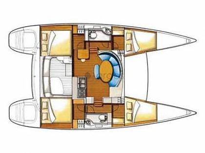 Lagoon 380 (CBM Realtime) - Sukošan - Charter plavidlá Chorvátsko