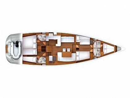 Jeanneau 57 (CBM Realtime) - Šibenik - Charter plavidlá Chorvátsko