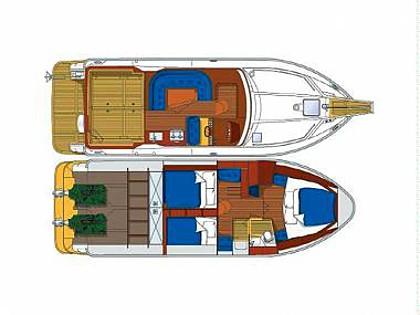 Nord West 390 Fly (CBM Realtime) - Sibenik - Charter boten Kroatië