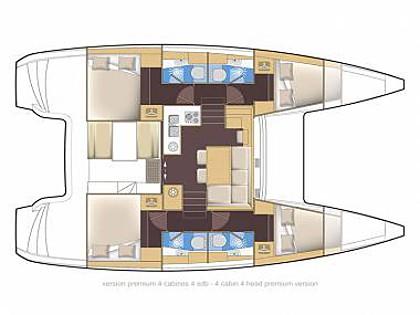 Lagoon 39 (CBM Realtime) - Sibenik - Charter Boote Kroatien