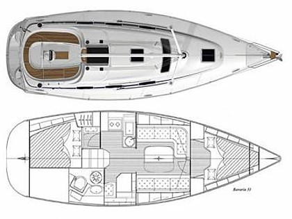 Bavaria 33 Cruiser (CBM Realtime) - Пунат - Чартер ХорватияХорватия