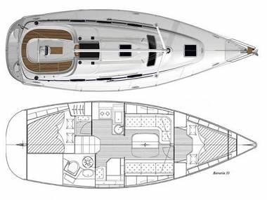 Bavaria 33 Cruiser (CBM Realtime) - Biograd - Charter hajókHorvátország