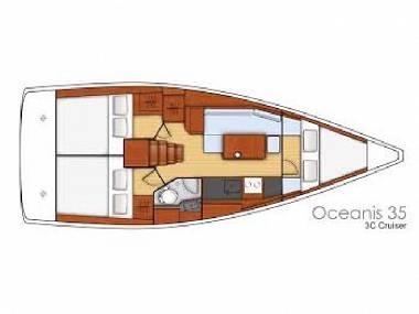 Oceanis 35 (CBM Realtime) - Сплит - Чартер ХорватияХорватия