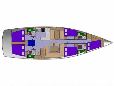 D&D Kufner 54 (CBM Realtime) - Biograd - Charter navi Croazia