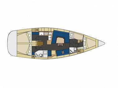 Elan 444 Impression (CBM Realtime) - Trogir - Charter plovila Hrvatska