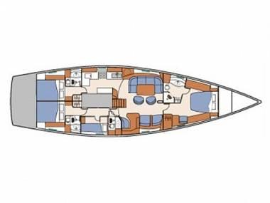Beneteau 57 (CBM Realtime) - Split - Charter embarcation Croatie