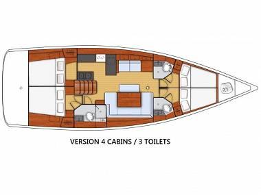 Oceanis 48 (CBM Realtime) - Kastel Gomilica - Charter boten Kroatië