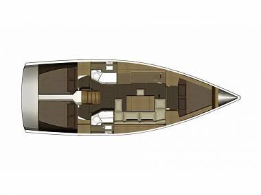 Dufour 382 GL (CBM Realtime) - Šibenik - Charter plovila Hrvaška