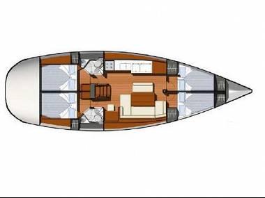 Sun Odyssey 44 i (CBM Realtime) - Kastel Gomilica - Charter plavidlá Chorvátsko