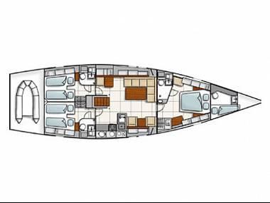 Hanse 540 (CBM Realtime) - Split - Charter ships Croatia