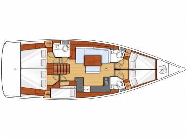 Oceanis 48 (CBM Realtime) - Seget Donji - Charter Boote Kroatien