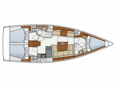 Hanse 415 (CBM Realtime) - Dubrovnik - Charter Boote Kroatien