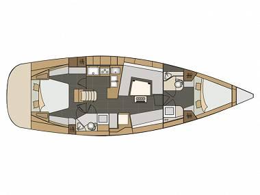 Elan 45 Impression (CBM Realtime) - Seget Donji - Charter plovila Hrvatska