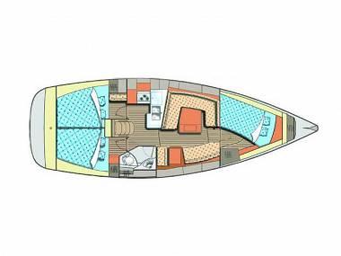 Elan 384 Impression (CBM Realtime) - Punat - Charter navi Croazia